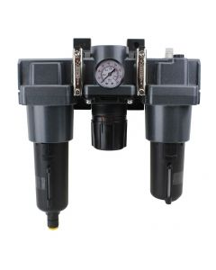 """FRL (High Flow) Air Filter, Regulator, and Lubricator System - 3/4"""" NPT - Metal Bowl, Automatic Float"""