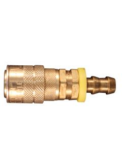 "3/8"" Hose Barb M Style Push On and Lock Coupler"