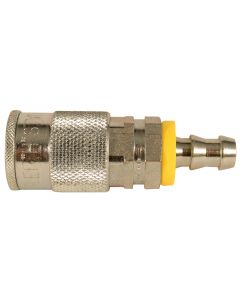 """3/8"""" Hose Barb H Style Push On and Lock Coupler"""