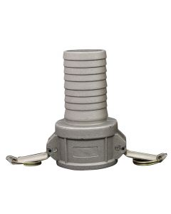"1 1/4"" Hose Barb C Style Cam and Groove Coupler"