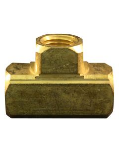 "1/4"" FNPT Brass Tee Hose Fitting"
