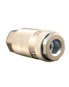 "1/4"" FNPT Female L-Style Coupler - Steel"