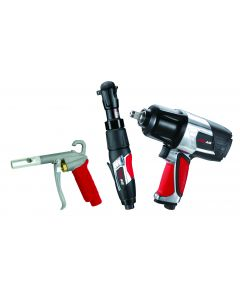 EXELAIR™ by Milton (3-Piece Professional Air Tool Kit) - Impact Wrench, Air Ratchet, and High-Flow Blow Gun
