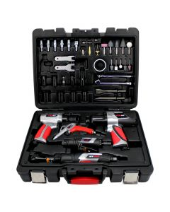 EXELAIR™ (44-Piece Professional Air Tool Accessory Kit) - Impact Wrench, Air Ratchet, Die Grinder, Blow Gun, Air Hammer, Dual Air Chuck, Tire Gauge, and Accessories