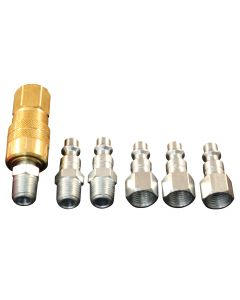 "1/4"" NPT M-Style Coupler and Plug Kit, (7-Piece)"