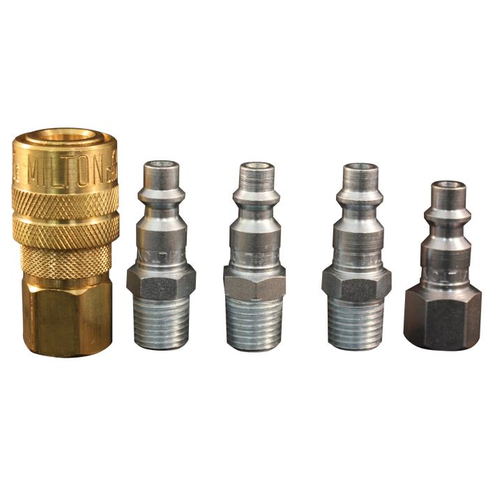 1 4 Npt >> 1 4 Npt M Style Coupler And Plug Kit 5 Piece