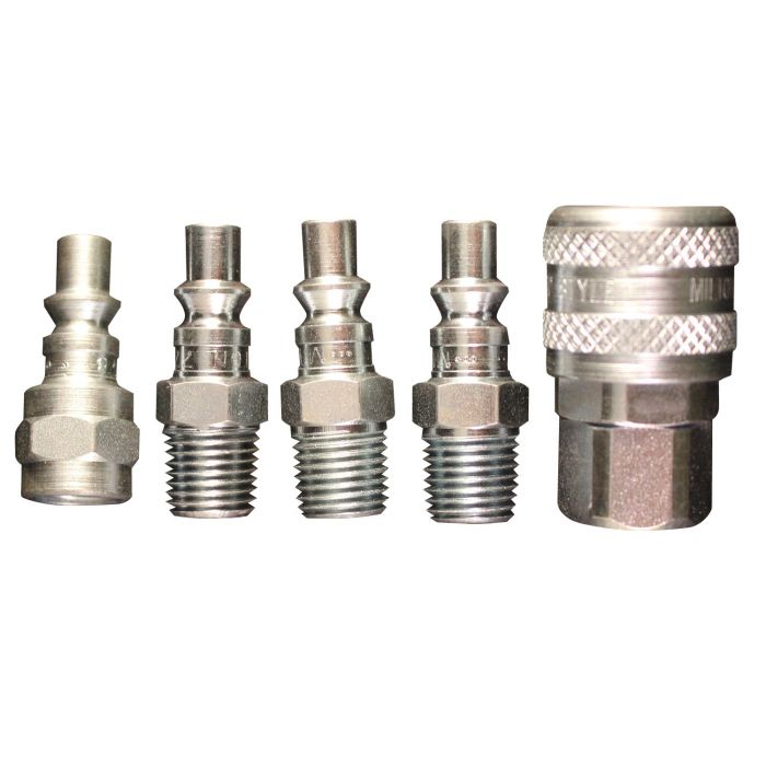 1 4 Npt >> 1 4 Npt A Style Coupler And Plug Kit 5 Piece