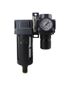"FRL Air Filter & Regulator - 3/8"" NPT - Polycarbonate Bowl, Automatic Float (EX45FR40A-03P)"
