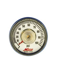 "1/4"" NPT Center Back Mount Pressure Gauge"