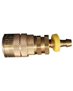 "1/4"" Hose Barb M Style Push On and Lock Coupler"
