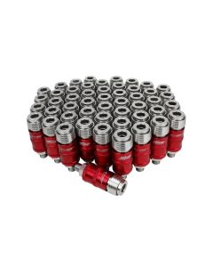"Milton 5 In ONE™ Universal Safety Exhaust Quick-Connect Industrial Coupler, 1/4"" Male NPT -Box of 50"