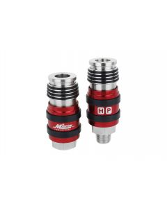 """Milton 2 In ONE Universal Safety Exhaust Industrial Coupler, 3/8"""" NPT x 3/8"""" Body Flow"""