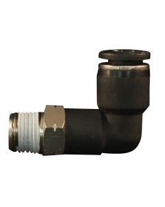"""1/2"""" MNPT 3/8"""" OD Push to Connect Swivel Elbow"""
