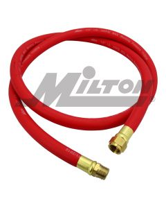 "Milton Air Leader Hose, 1/2"" x 6 ft. Rubber Hose - 1/2"" NPT Brass Ends, 300 Max PSI"