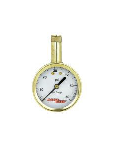 Accu-Gage by Milton Dial Tire Pressure Gauge with Straight Air Chuck - ANSI Certified for Motorcycle/Car/Truck Tires 0-60 PSI