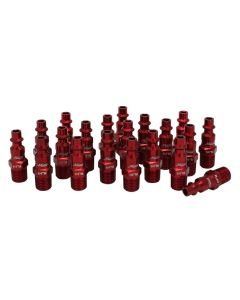 "ColorFit by Milton Plugs (M-style, Red) - 1/4"" NPT, (Box of 20)"