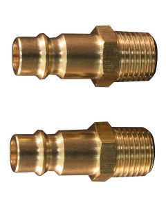 "1/4"" MNPT Male V-Style High Flow Plug, (Brass)"