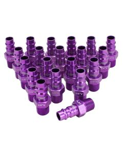 "ColorFit by Milton HIGHFLOWPRO™ Plugs (V-Style, Purple) - 1/4"" NPT, (Box of 20)"