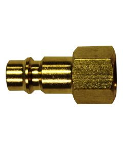"1/4"" FNPT Female V-Style High Flow Plug, (Brass)"