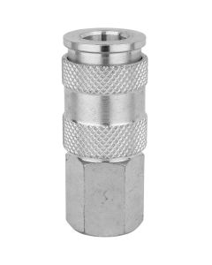"""Milton 764ST 1/4"""" FNPT High Flow (V-Style) Quick-Connect Steel Coupler - Box of 10"""