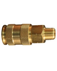 "1/4"" MNPT Male V-Style High-Flow Coupler"