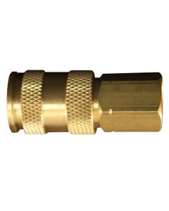 "3/8"" FNPT Female V-Style High-Flow Coupler"