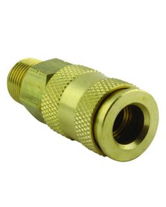 "3/8"" MNPT Male V-Style High Flow Coupler"
