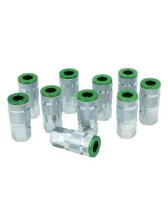 "ColorFit by Milton Couplers (A-style, Green) - 1/4"" NPT, (Box of 10)"