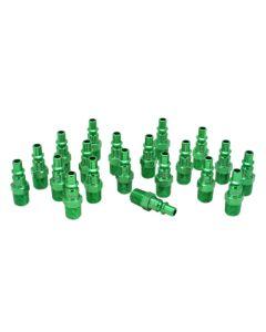 """ColorFit by Milton Plugs (A-style, Green) - 1/4"""" NPT, (Box of 20)"""