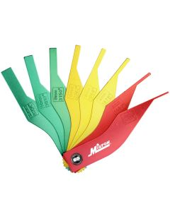 Milton® 8-Piece Manual Brake Pad Gauge Metric/SAE Tool Set, Easy to Read Color Coded - 2mm to 12mm