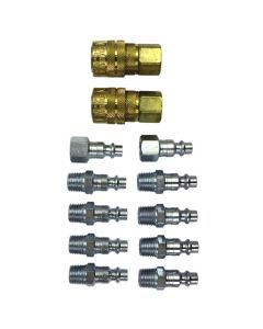 "1/4"" NPT M-Style Coupler and Plug Kit, (12-Piece)"