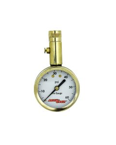 Accu-Gage by Milton Dial Tire Pressure Gauge with Straight Air Chuck - ANSI Certified for Motorcycle/Car/Truck Tires (0-60 PSI)
