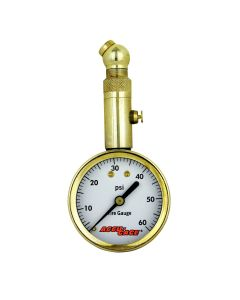 Accu-Gage by Milton Dial Tire Pressure Gauge with Swivel Angle Air Chuck - ANSI Certified for Motorcycle/Car/Truck Tires (0-60 PSI)
