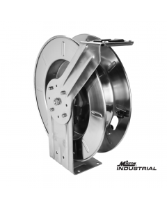 """Milton® Industrial Stainless Steel Hose Reel Retractable, 1/2"""" NPT, Hose Capacity 25', 35', and 50', 300 PSI"""